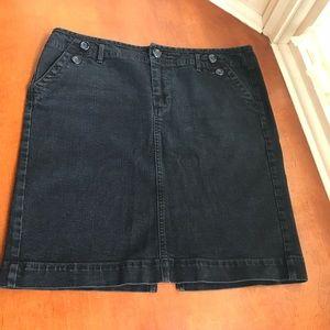 Black denim Gap mini skirt